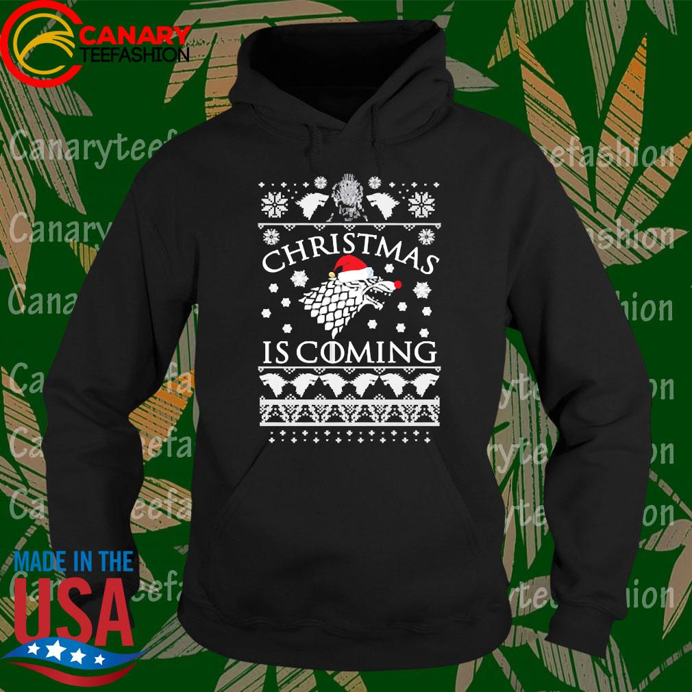 Game of Thrones Winter Christmas is coming Ugly christmas sweater Hoodie