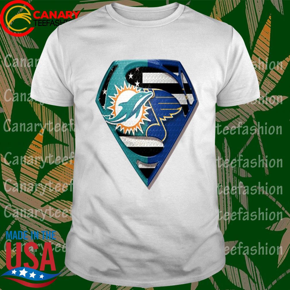 Superman Miami Dolphins vs St. Louis Blues 2020 shirt