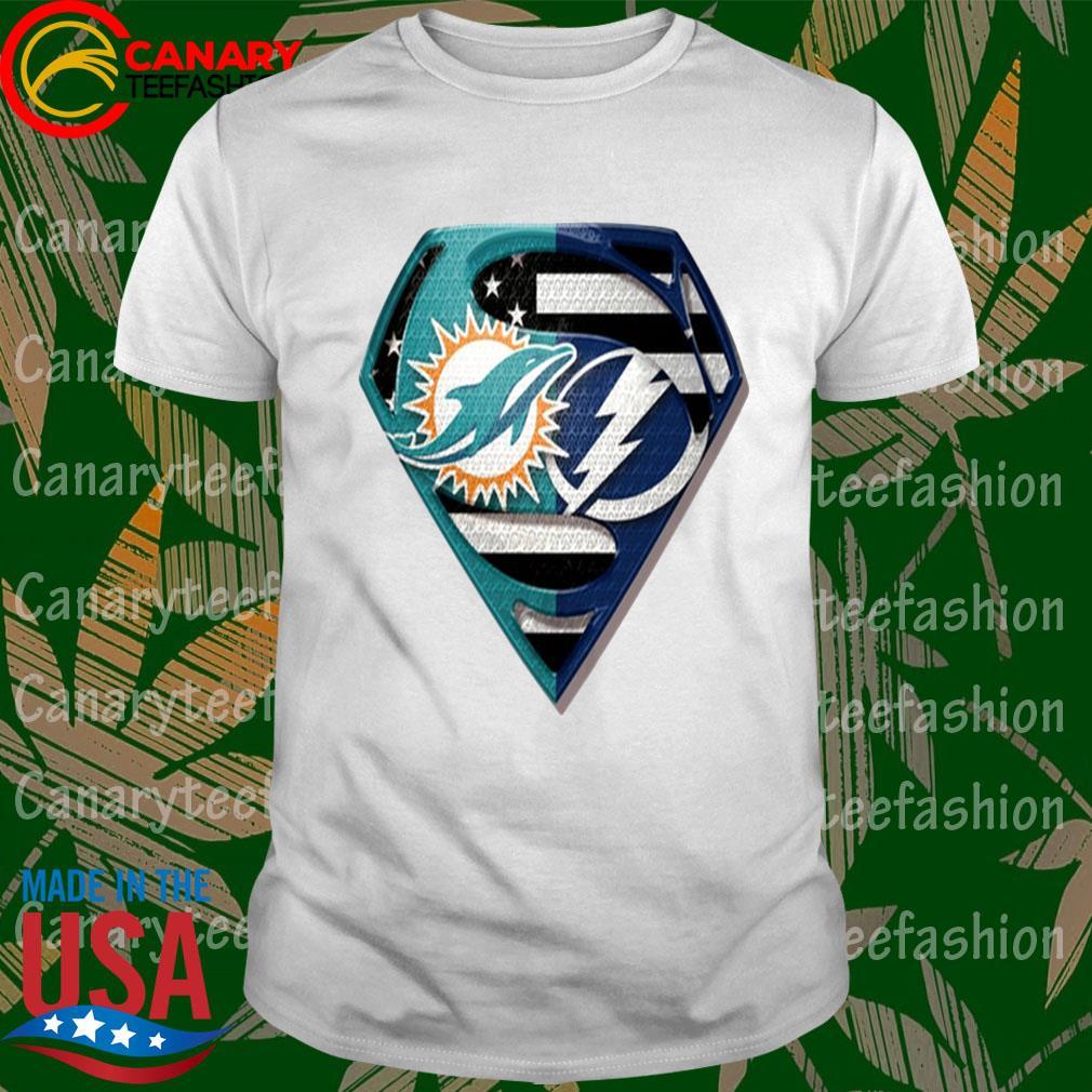 Superman Miami Dolphins vs Tampa Bay Lightning 2020 shirt