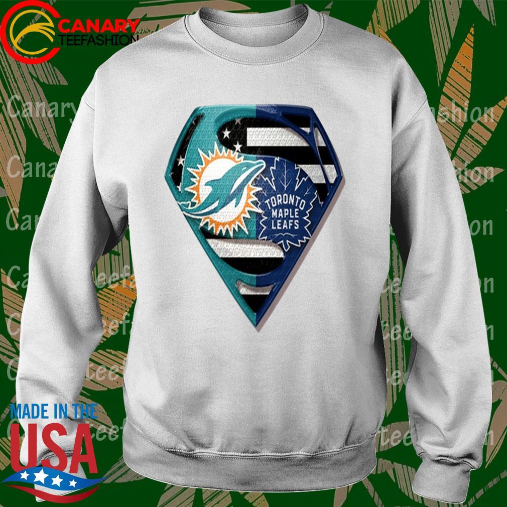 Superman Miami Dolphins vs Toronto Maple Leafs 2020 s Sweatshirt