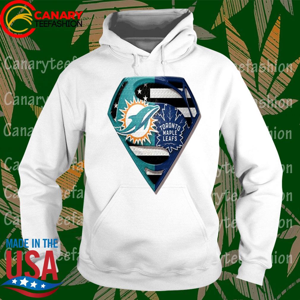 Superman Miami Dolphins vs Toronto Maple Leafs 2020 s hoodie
