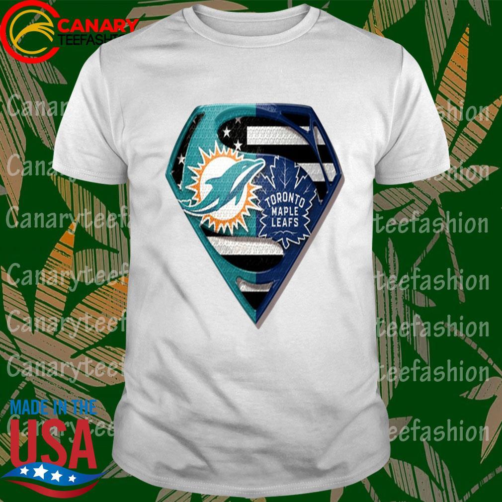 Superman Miami Dolphins vs Toronto Maple Leafs 2020 shirt