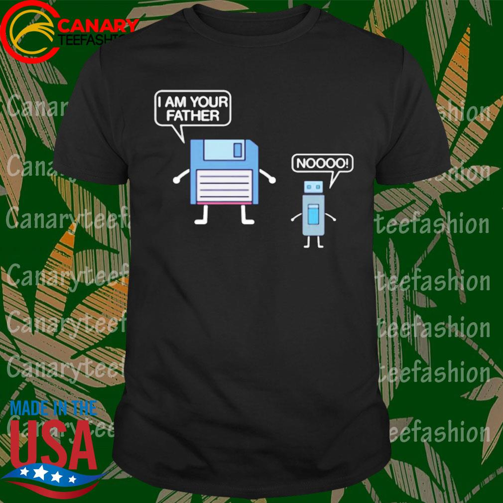 USB Floppy Disk I Am Your Father Nerdy Computer Geek T-Shirt